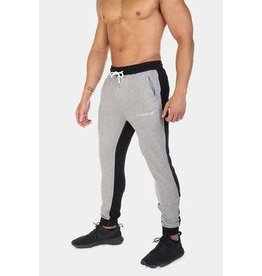 JED NORTH JED NORTH PHANTOM 2-TONE TAPPERED JOGGERS, BLACK