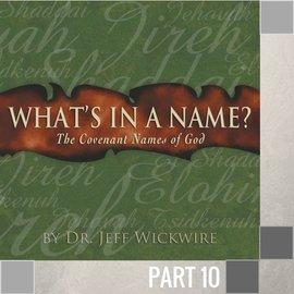 10(I019) - Jehovah-Tsidkenu