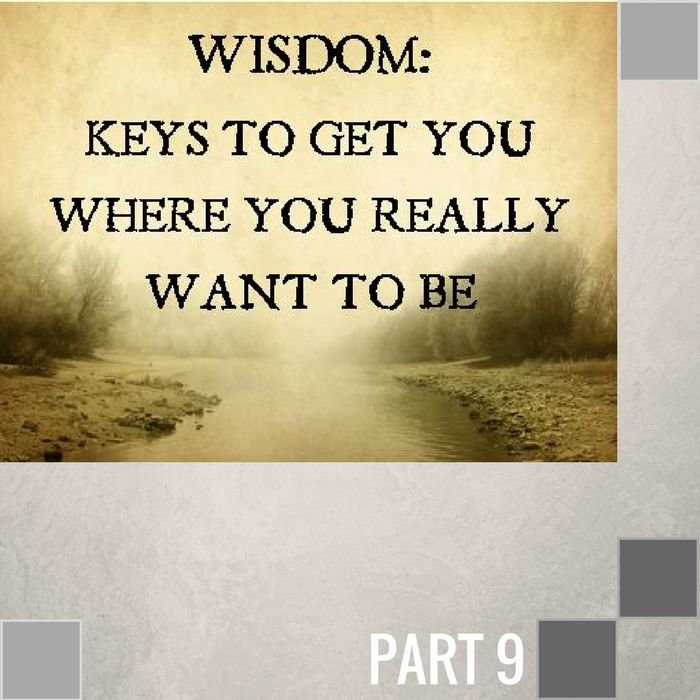 09(J009) - The Wisdom Of Being Correctible