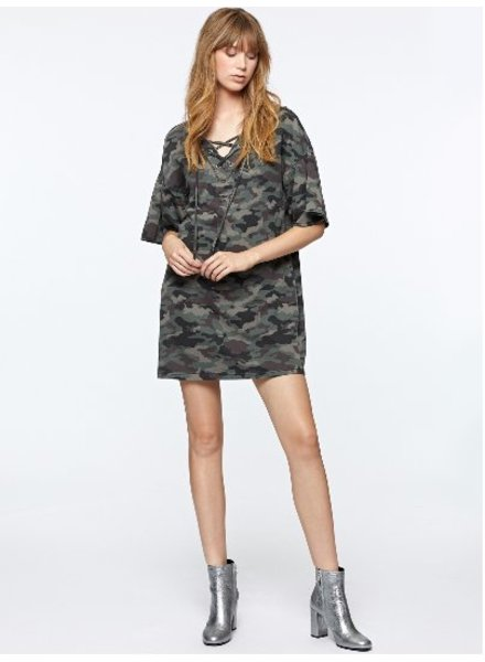 Sanctuary Mariska Camo Sweatshirt Dress