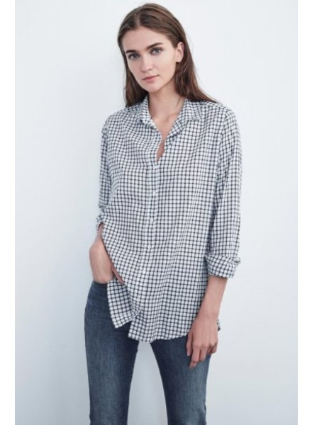 Velvet by Graham and Spencer Rufina Cotton Check Button Up