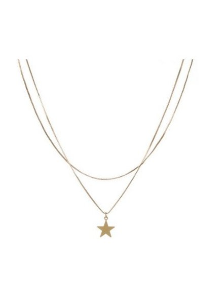 CAM Orb Long Star Necklace