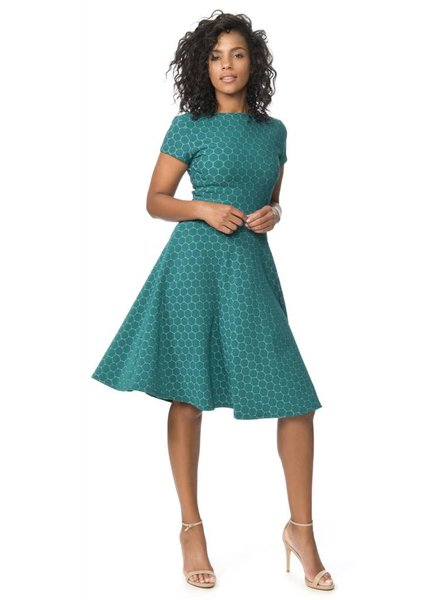 Leota Circle Dress with Cap Sleeve