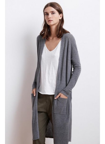 Velvet by Graham and Spencer Denise Lux Cotton Long Cardigan