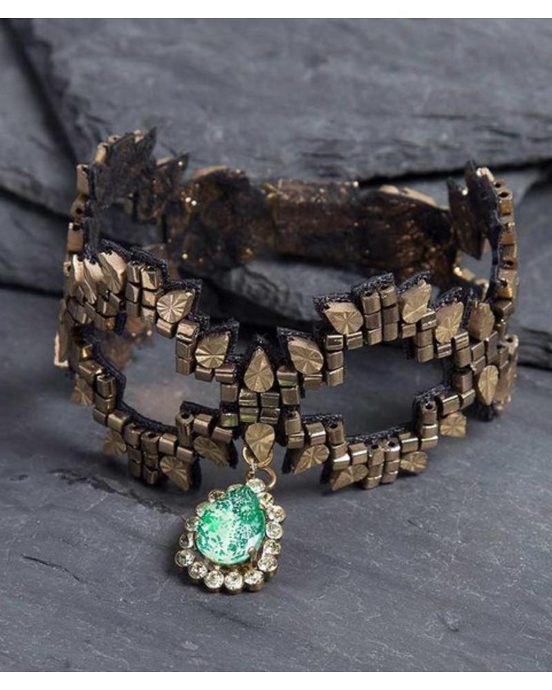 Deepa Gurnani Erte Bracelet