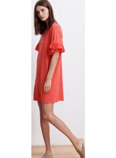 Velvet by Graham and Spencer Sibel Dolphin Contrast Ruffle Dress