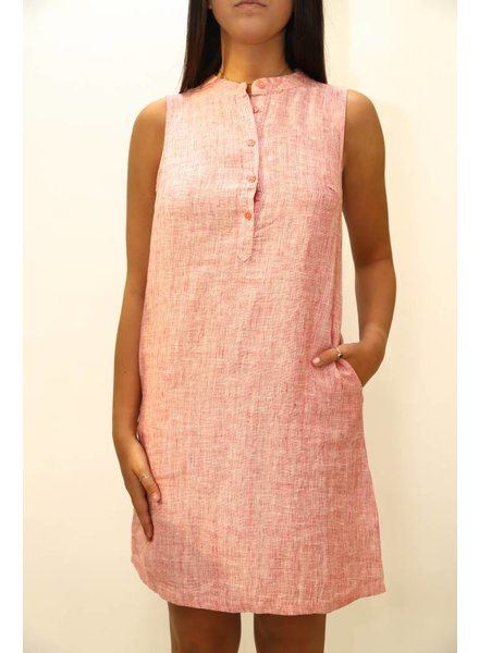 French Collection Linen Sleeveless Dress