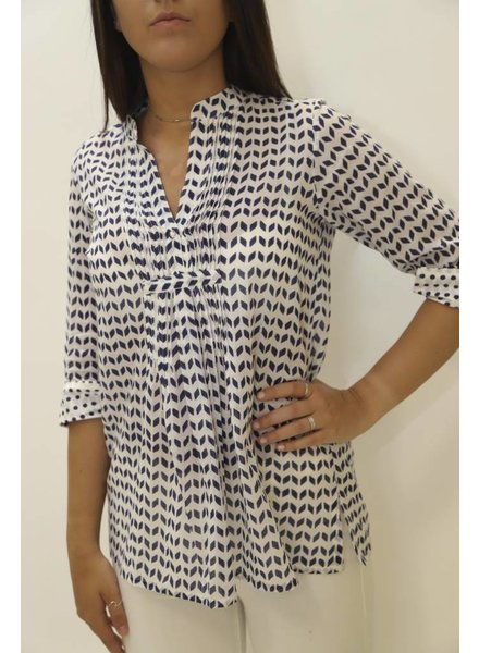 Oliphant Pintuck Cotton Blouse