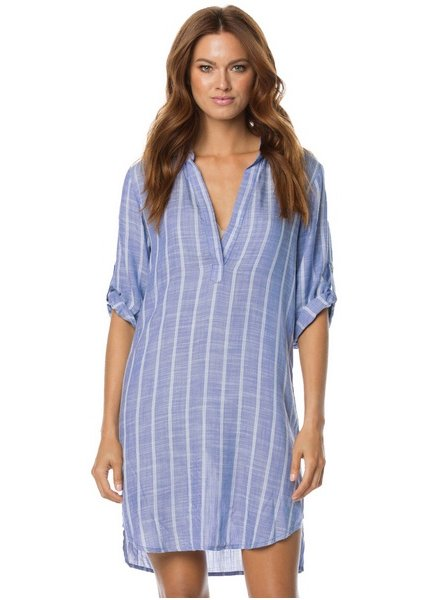 Elan 3/4 Slv Dress V-Neck