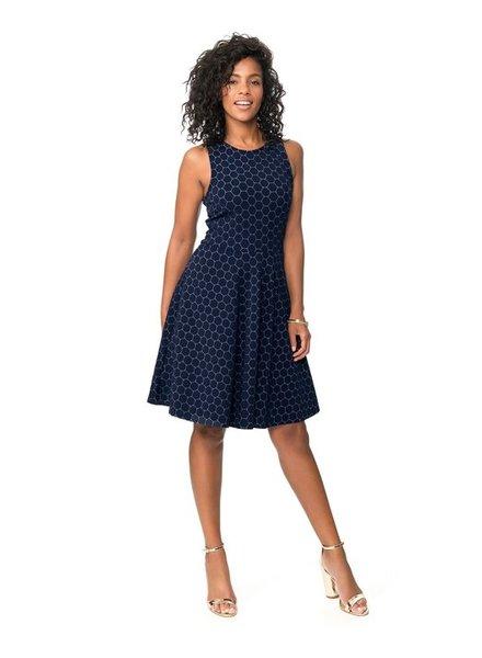 Leota Ava Luxe Jacquard Classic Dress