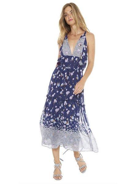 Misa Frederika Halter Maxi Dress
