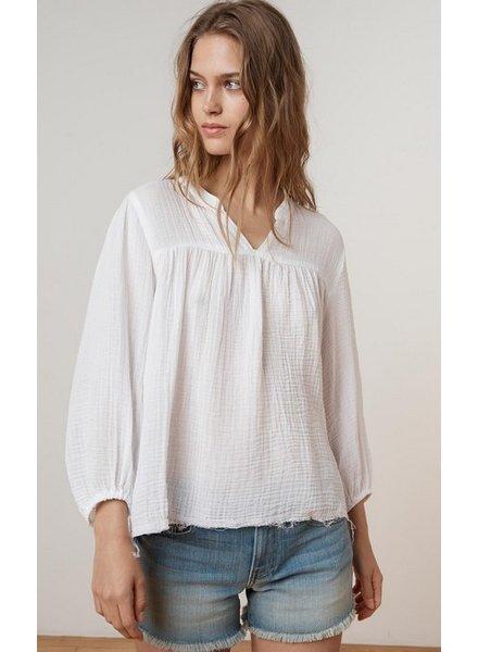 Velvet Miffy Soft Gauze Peasant Top