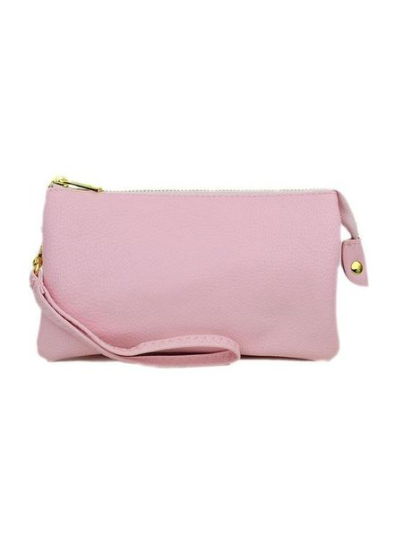 Ahdorned Solid Leatherette Cross Body