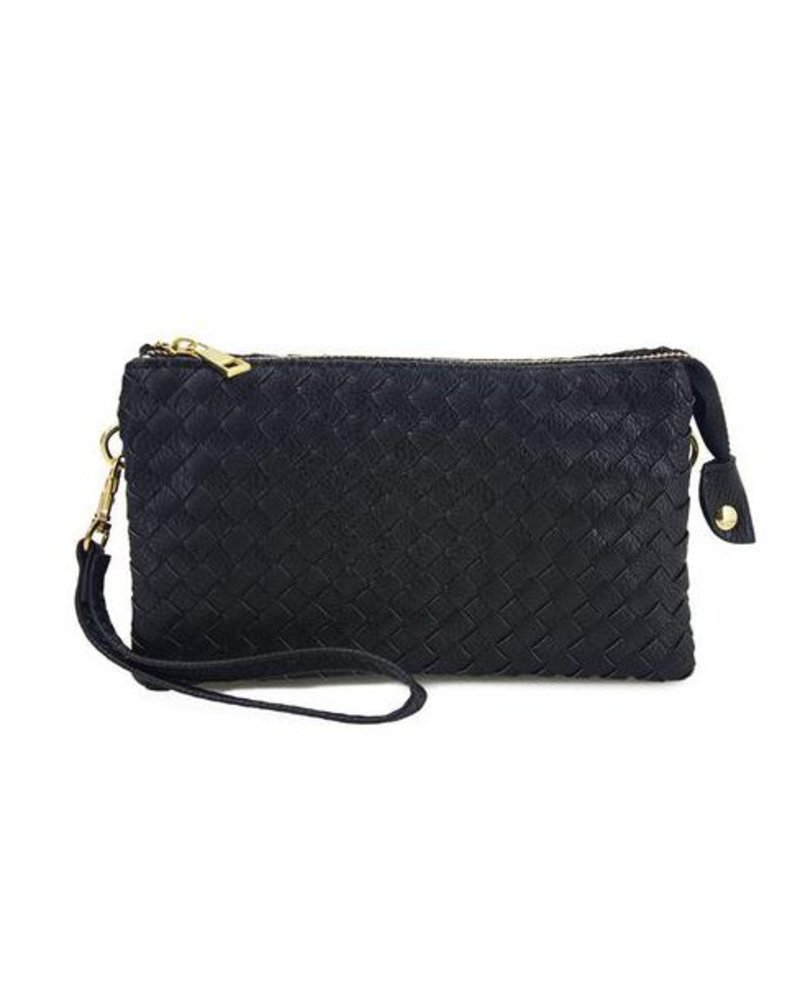 Ahdorned Woven Cross Body