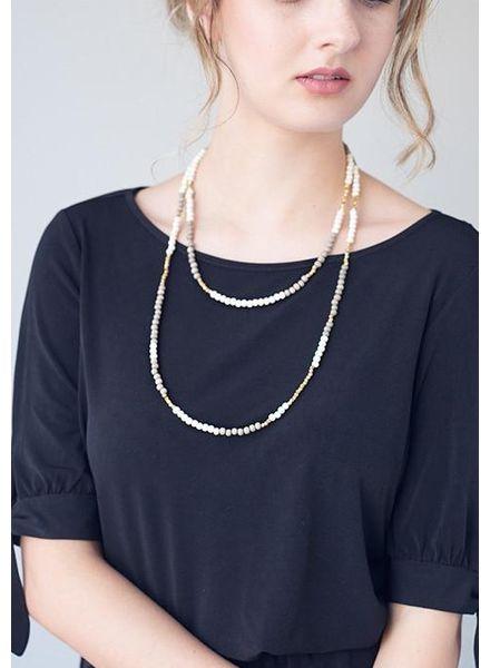 Stone + Stick Hopscotch Long Layering Necklace