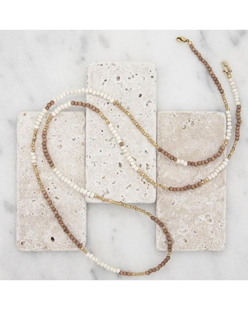 Stone + Stick Hopscotch Long Layering Necklace