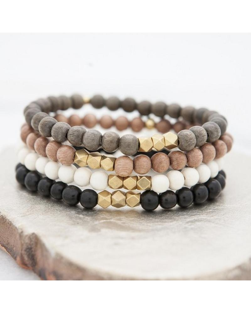 Stone + Stick Essential Stretch Bracelet