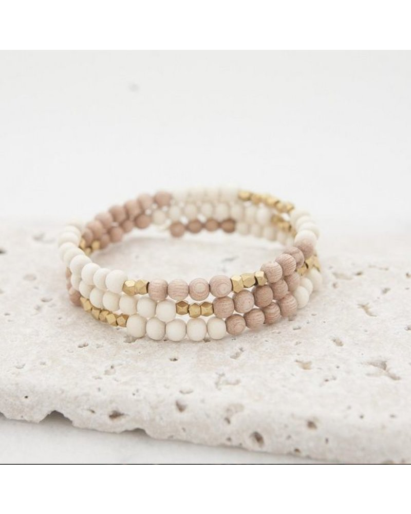 Stone + Stick Hopscotch Triple Wrap Bracelet