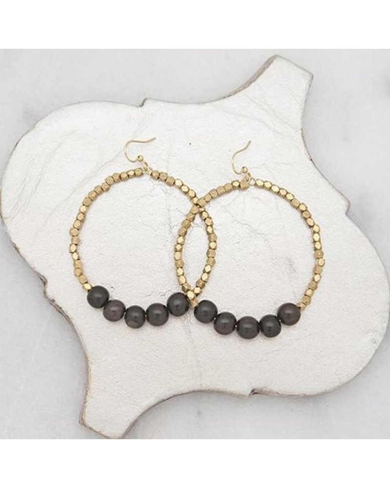 Stone + Stick Golden Row Earrings