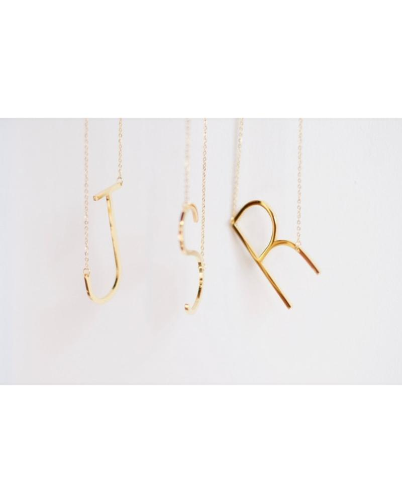 Jonesy Wood Gold Initial Necklaces