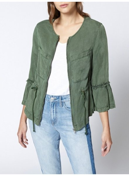 Sanctaury Military Frill Peplum Jacket