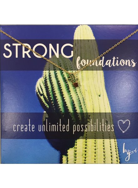 Be The Good Strong Foundations Cactus Icon Necklace