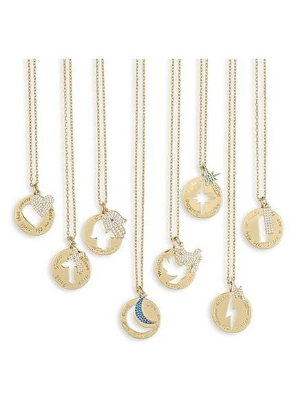 LuLu Dk Medallion Cutout Necklace