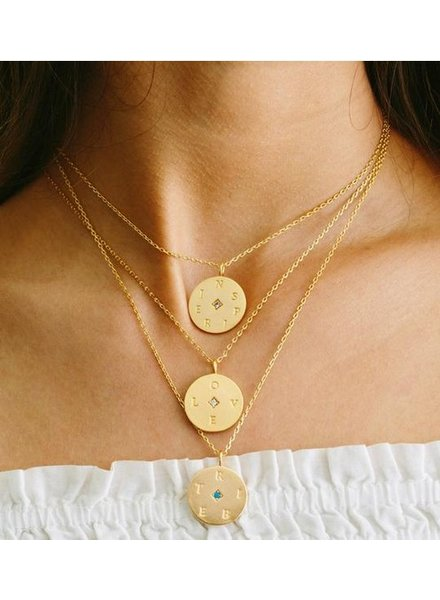 LuLu Dk Medallion Necklace
