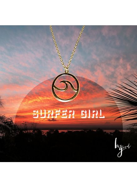 Be The Good Surfer Girl Icon Necklace