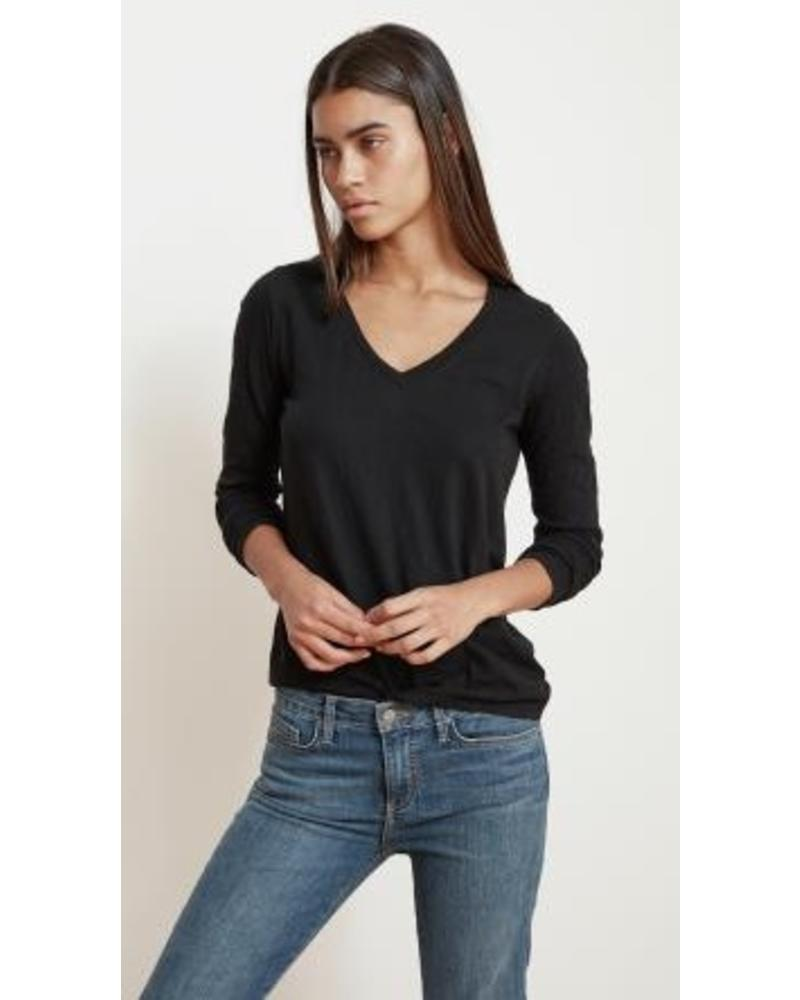 Velvet by Graham and Spencer Blaire Long Sleeve V Neck