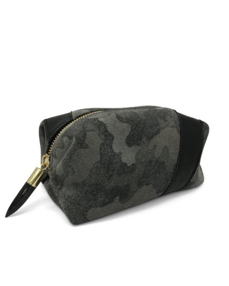 Kempton & Co Camo Suede Cosmetic Bag