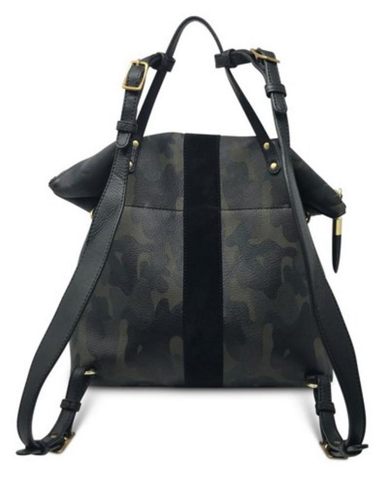 Kempton & Co Morleigh Convertible Backpack Tote- Dark Camo