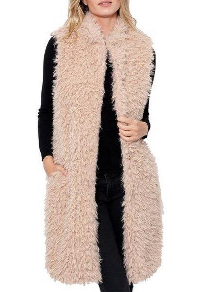 Love token Giovanna Long Fur Vest
