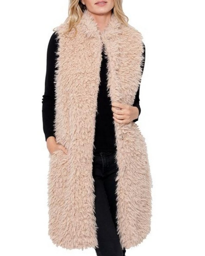 Love token Giovanna Long Fur Vest
