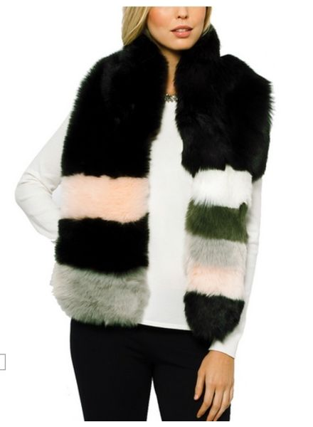 Love token Lela Faux Fur Scarf