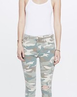 Mother High Waisted Looker Ankle Fray