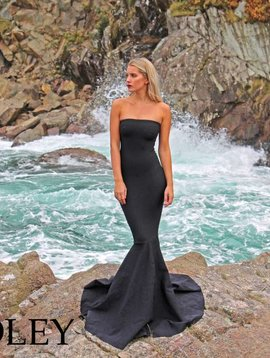 Strapless Ex. Mermaid Maxi (Brazil Black Flat Print