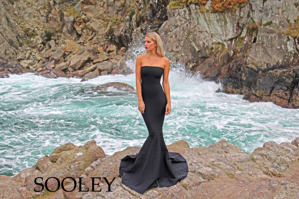 Strapless Mermaid Gown (Black)