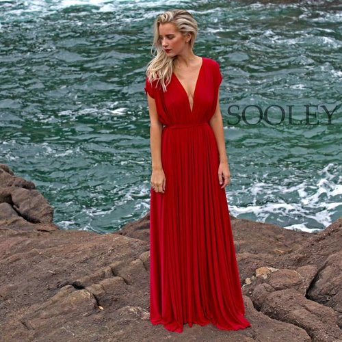 Plunging Draped Gown