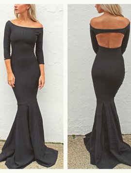 Off the Shoulder Mermaid (Black Brazil)