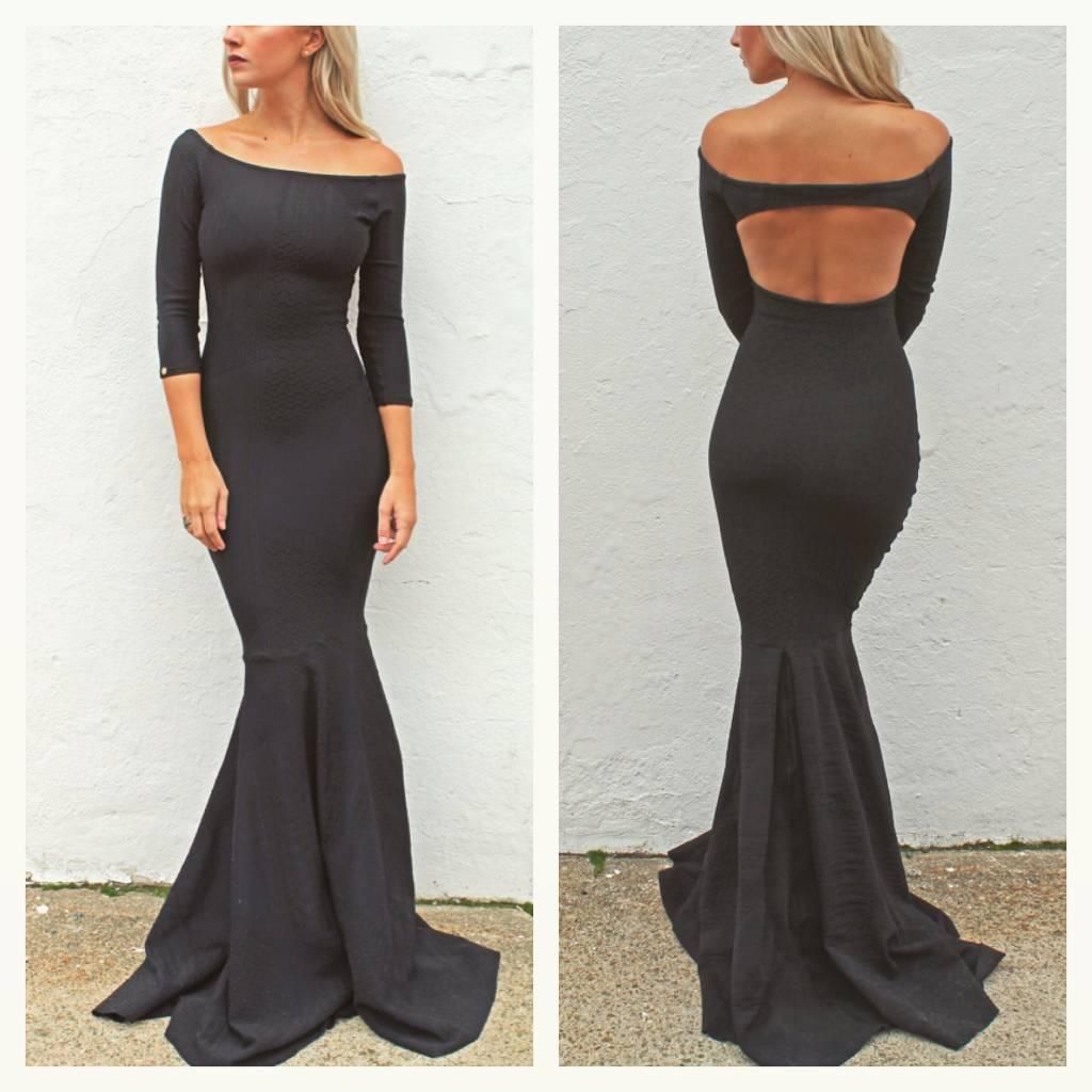 Off the Shoulder Gown (Black)