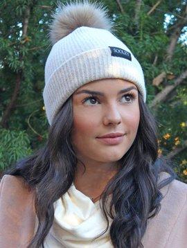 Cashmere Hat with Pom