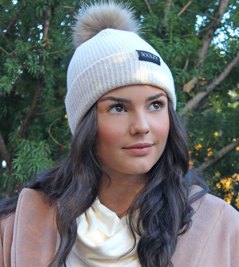 Cashmere Hat with Pom