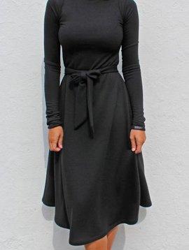 Betty Dress (Black Crepe)