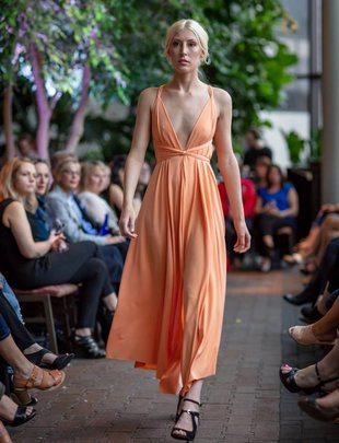 ARES Dress Tea Length (Tangerine)