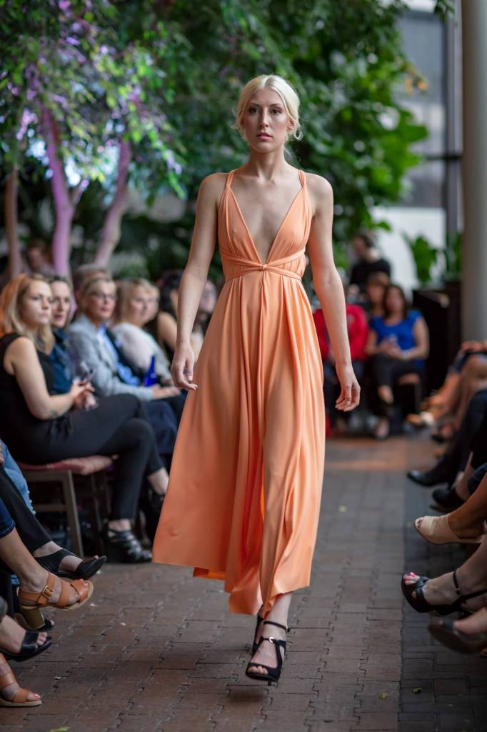 Sooley Designs ARES Dress Tea Length (Tangerine)