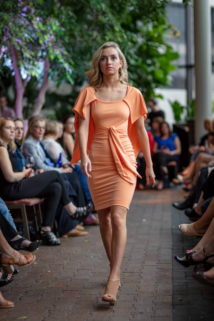 MAIA Pencil Dress (Tangerine)