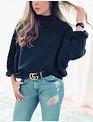 Mavis Sweater - Charcoal Wool Blend