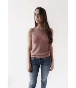 MAISON SCOTCH LINEN TANK TOP - 770 - BLUSH