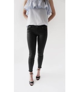 7 FOR ALL MANKIND COATED SKINNY - 894A - BLACK